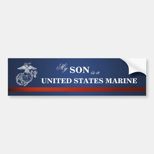 Son is a Marine Bumper Stickers