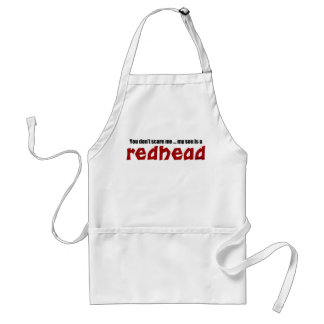 Son is a Redhead Adult Apron