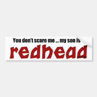 Son is a Redhead Bumper Sticker