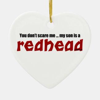 Son is a Redhead Ceramic Ornament