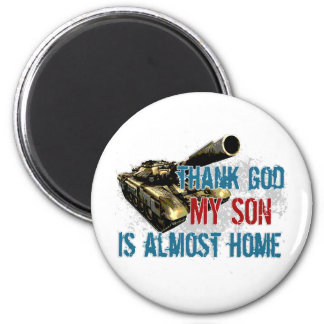 Son is almost home refrigerator magnets