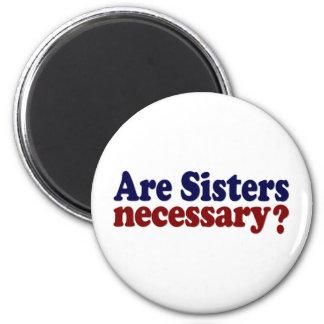 Son las hermanas necesarias imán de frigorifico