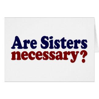 Son las hermanas necesarias felicitacion