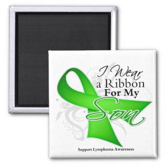 Son Lime Green Ribbon - Lymphoma Fridge Magnet