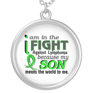 Son Means The World To Me Lymphoma Round Pendant Necklace