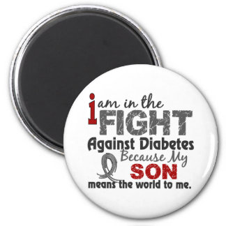Son Means World To Me Diabetes 2 Inch Round Magnet