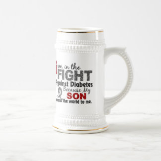 Son Means World To Me Diabetes Beer Stein