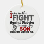 Son Means World To Me Diabetes Ceramic Ornament