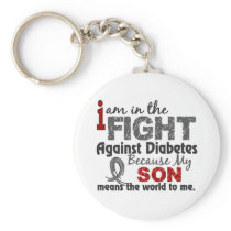 Son Means World To Me Diabetes Keychain