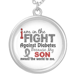 Son Means World To Me Diabetes Silver Plated Necklace