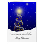 Son / Merry Christmas - Christmas Tree Card