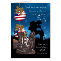 Son Military Christmas Greeting Card With Pride at Zazzle