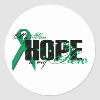Son My Hero - Kidney Cancer Hope Classic Round Sticker