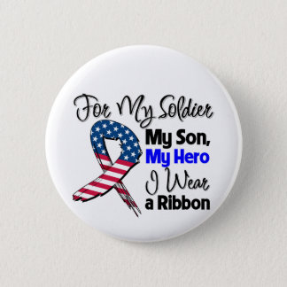 Son - My Soldier, My Hero Patriotic Ribbon Button