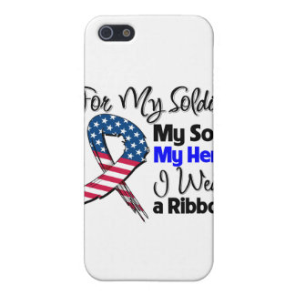 Son - My Soldier, My Hero Patriotic Ribbon Covers For iPhone 5