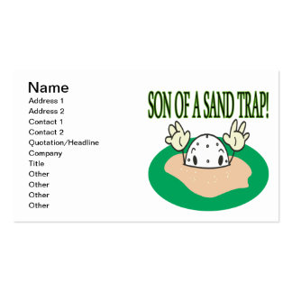 Son Of A Sand Trap Business Card
