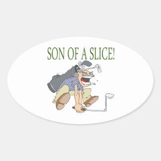 Son Of A Slice Oval Sticker