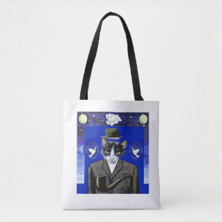 Son of Cat - Magritte Parody Tote Bag