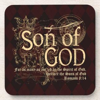 Son of God, Romans 8:14 Christian Coaster
