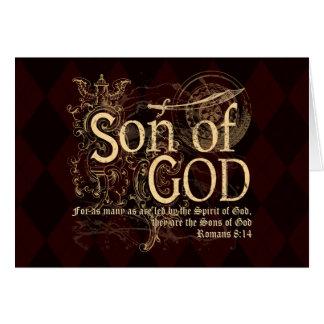 Son of God, Romans 8:14 Christian Greeting Card