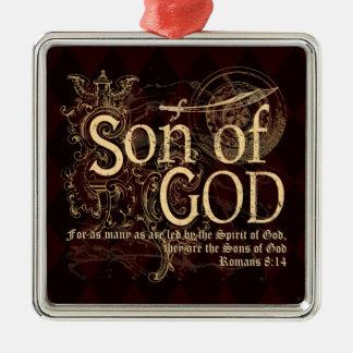 Son of God, Romans 8:14 Christian Metal Ornament