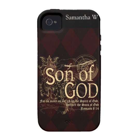Son of God, Romans 8:14 Christian Vibe iPhone 4 Cover