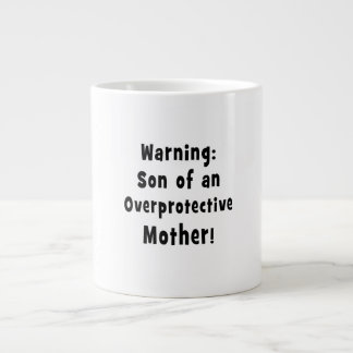 son of overprotective mother black text extra large mug
