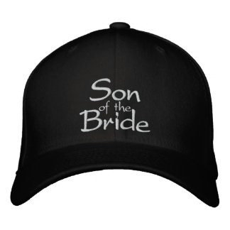 Son of the Bride Embroidered Wedding Cap