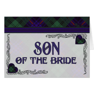 Son of the Bride Invitation - Armstrong Tartan Greeting Card