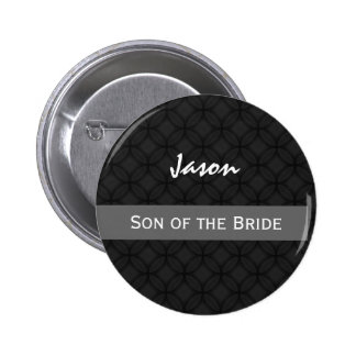 SON OF THE BRIDE Wedding Black and White Button