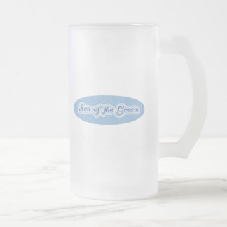 Son of the Groom Frosted Glass Beer Mug