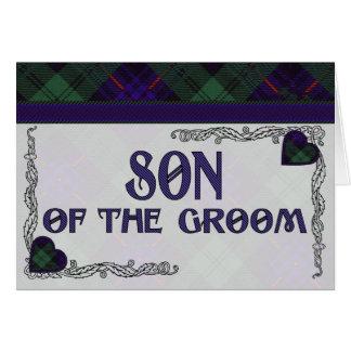 Son of the Groom - Invitation - Armstrong Tartan Greeting Card