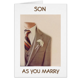 **SON** ON YOUR WEDDING DAY=NEW ADVENTURE CARD