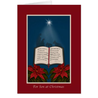 Son, Open Bible Christmas Message Greeting Card