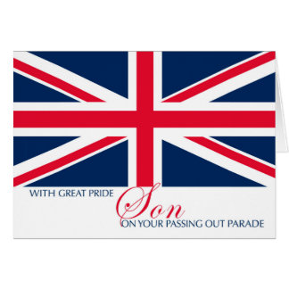 Son Passing Out Parade Union Jack Flag Sentimental Card