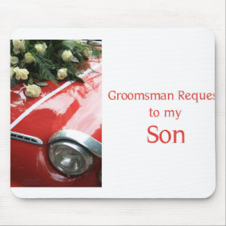 Son  Please be my Groomsman - invitation Mouse Pad