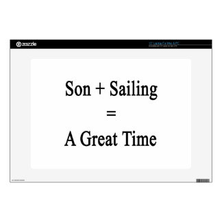 Son Plus Sailing Equals A Great Time Decals For Laptops