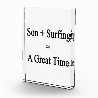 Son Plus Surfing Equals A Great Time Award