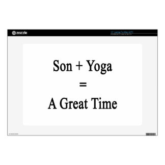 Son Plus Yoga Equals A Great Time Laptop Decal