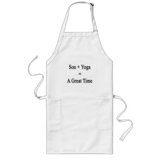 Son Plus Yoga Equals A Great Time Long Apron