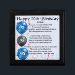 "Son Poem  - 30th Birthday Design Keepsake Box<br><div class=""desc"">A great gift for a son on his 30th birthday</div>"