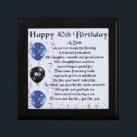 "Son Poem  - 40th Birthday Design Gift Box<br><div class=""desc"">A great gift for a son on his 40th birthday</div>"