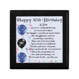 Son Poem  - 40th Birthday Design Gift Box