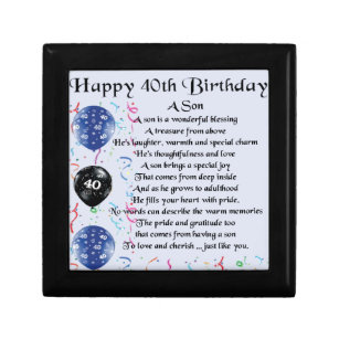 Sons 40th Birthday Gifts On Zazzle