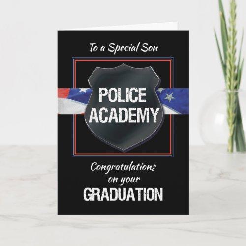 Son Police Academy Graduation Congratulations Card