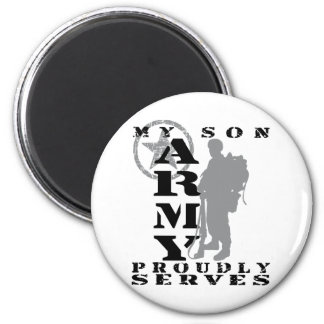 Son Proudly Serves - ARMY 2 Inch Round Magnet