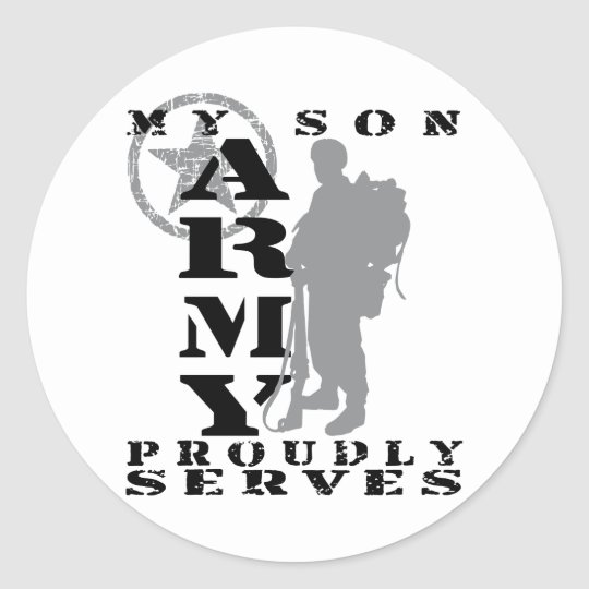 Son Proudly Serves - ARMY Classic Round Sticker