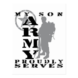 Son Proudly Serves - ARMY Postcard
