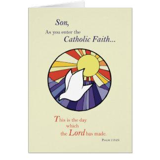 Son RCIA Catholic Dove Sun Circle, Rite of Christi Card