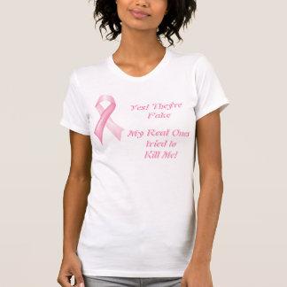 Son sí camiseta falsa de la cinta del cáncer de pe